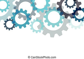 Vector background with a gear element. Industrial components, Eps 10
