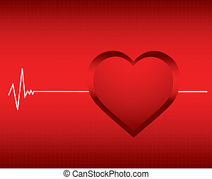 vector background with a monitor heartbeat