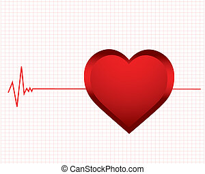 monitor heartbeat - vector background with a monitor...