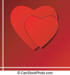 Vector background with a puzzle at the heart