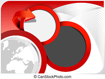 Vector background with abstract globe