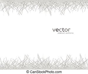 Vector background with abstract particles.