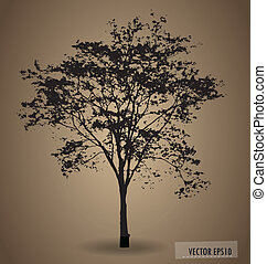 Vector background with abstract tree.