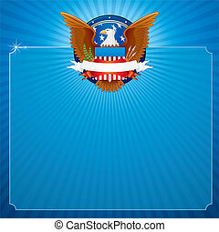 American Eagle - Vector Background with American Eagle