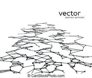 Vector background with black abstract particles.