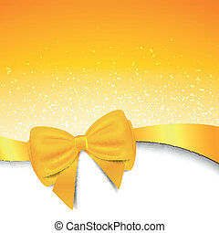 Vector Background with Bow