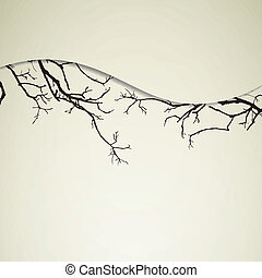 Vector Background with Branches