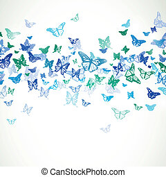 Vector Background with Butterflies