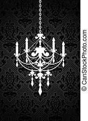 chandelier - Vector background with chandelier