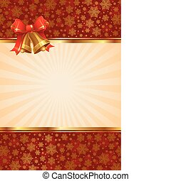 Vector Background with christmas hand bells