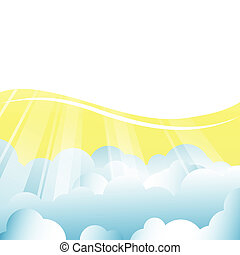 vector background with clouds