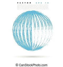 Vector background with colored sphere.