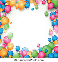 Vector Background with Colorful Balloons