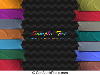 Vector background with colorful silk ribbons