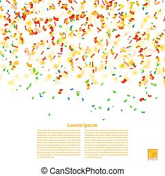 Vector background with confetti. Sample for your festive design.