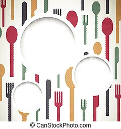 Vector Background with Cutlery