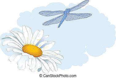 daisy and dragonfly