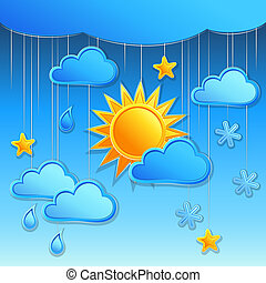 vector background with day weather icon