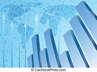 Vector background with diagram