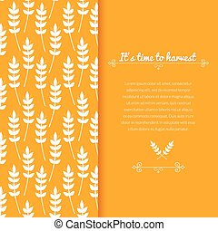 Vector background with ears of wheat