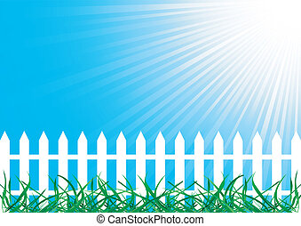 Vector background with fence