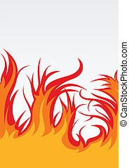 Vector background with fire
