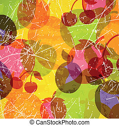 Vector Background with Fruits