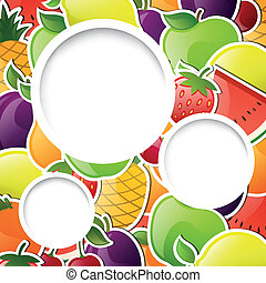 Vector Background with Glossy Fruits
