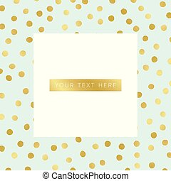 Vector background with gold dots pattern