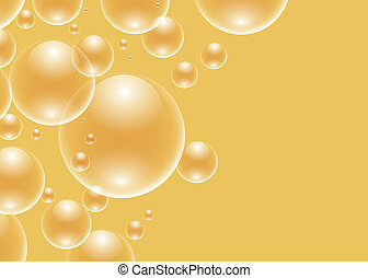 Vector background with golden bubbl - EPS10 file. Vector...
