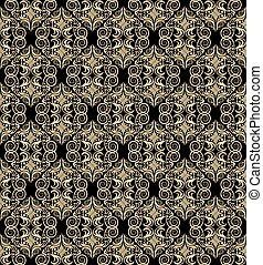 Vector background with golden pattern seamless
