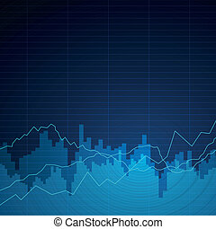 Vector Background with Graphs - Vector Illustration of an...