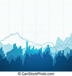 Vector Background with Graphs