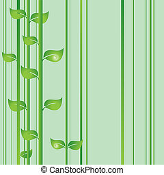 Vector background with green lines