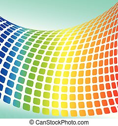 Vector background with halftone rainbow for your design