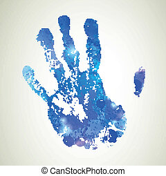 Vector Background with Hand Print