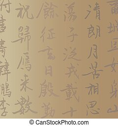 Vector background with Handwritten Chinese characters