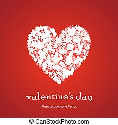 Vector background with heart.
