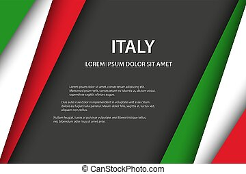 Vector background with Italian colors and free grey space for your text, Italian flag, Made in Italy, Italian icon a and symbol