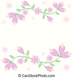background with lily flowers