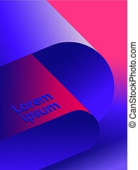Vector background with modern abstract shape. For cover, poster or brochure.