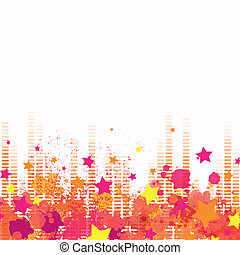 Vector Background with Music Equalize