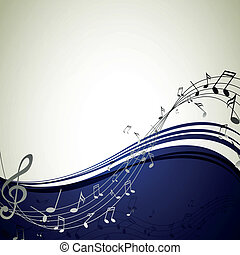 Vector Background with Music notes - Vector Illustration of ...