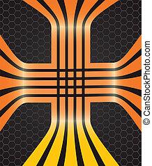 Vector background with orange lines
