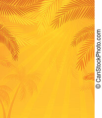 Vector Background with Palm Trees
