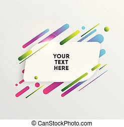 Vector background with paper card and abstract colorful...