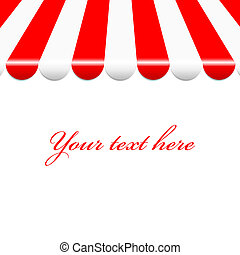 red and white awning - Vector background with red and white...