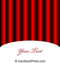 Vector background with red curtain