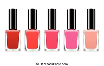 Vector background with red nail polish on a white background