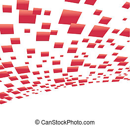Vector background with red squares